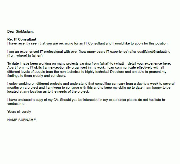 Pics Photos Sample Consultant Job Cover Letter 9 for Consulting ...
