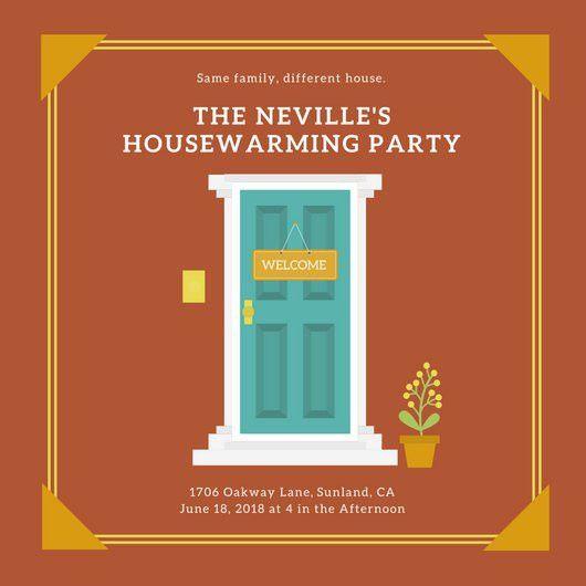 Housewarming Invitation - Templates by Canva