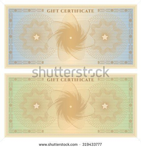 Gift Certificate Voucher Coupon Ticket Template Stock Illustration ...