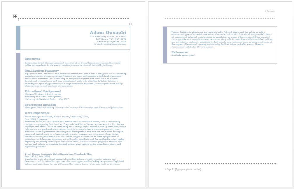 Event Planner Free Resume Samples Blue Sky Resumes. Event Planner ...