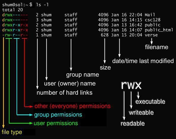 CSC128: Permissions and Links: chmod and ls