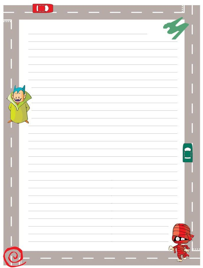 halloween stationary with lines scary halloween regular lined ...
