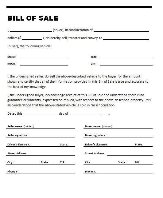 28+ Bill Of Sale Template | 8 Automobile Bill Of Sale Template ...