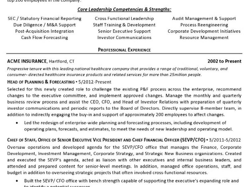 cfo resume financial executive resume sample resume exampl cfo cfo ...