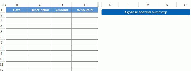 Shared Expense Calculator - Download FREE Excel Template