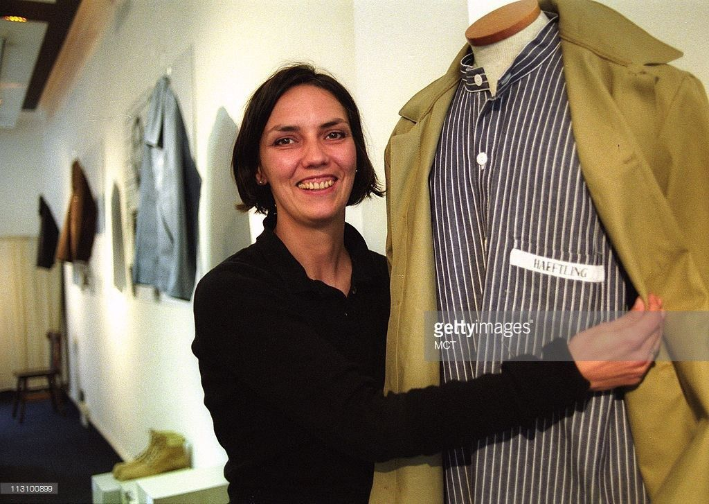 Salesperson Kerstin Paul shows off an outfit from the Haeftling ...