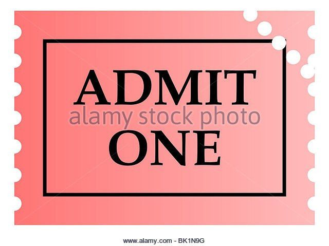 Admit One Stock Photos & Admit One Stock Images - Alamy
