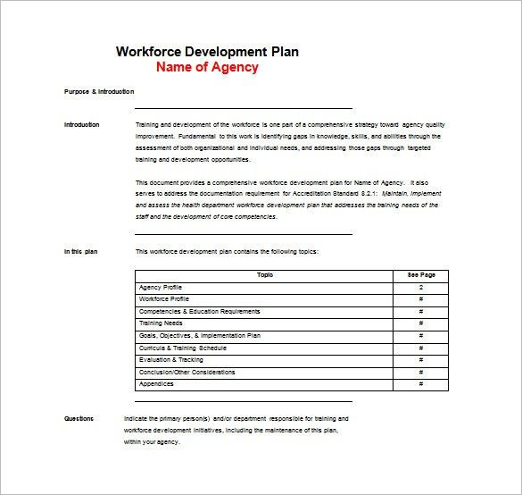 Free Training Plan Templates - Word, PDF Documents Download | Free ...