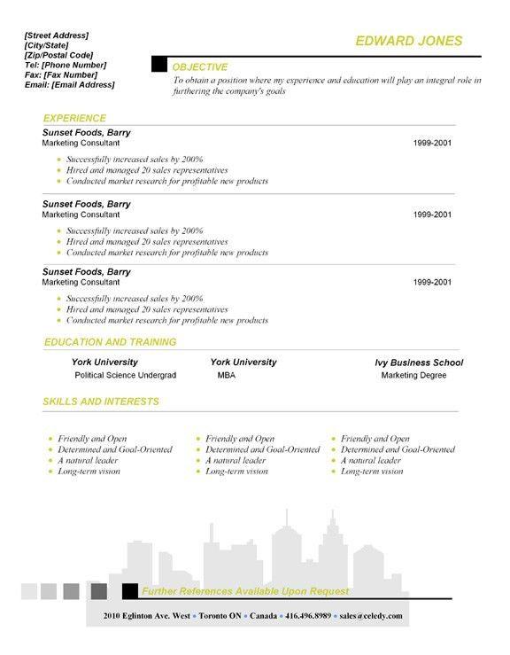 Desktop Publishing Program Sample - Resume Document