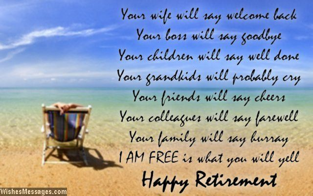 Happy Retirement Wishes for Friends - Text for Retirement Cards Images