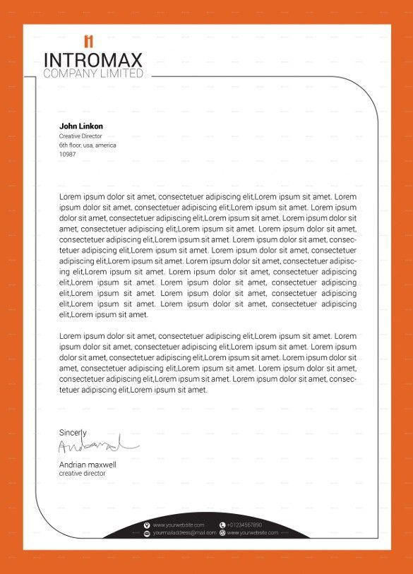 15+ Company Letterhead Templates – Free Sample, Example Format ...