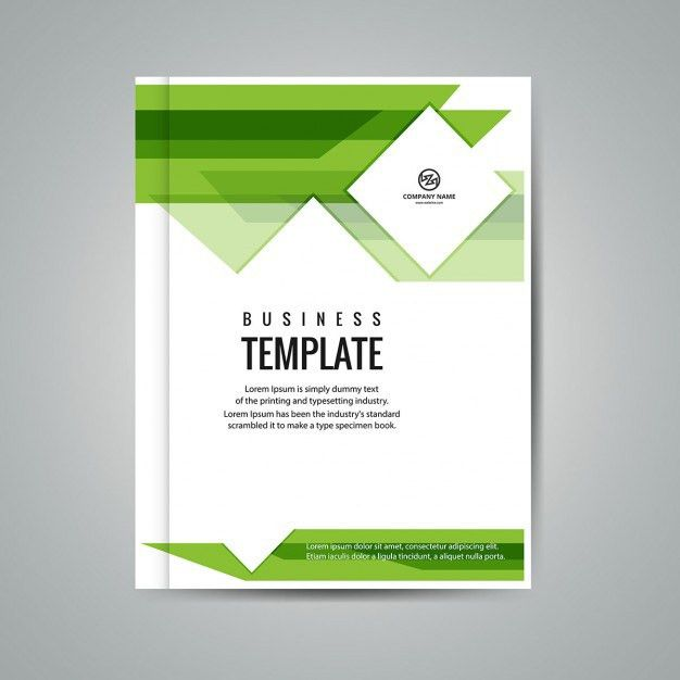Green business booklet Vector | Free Download