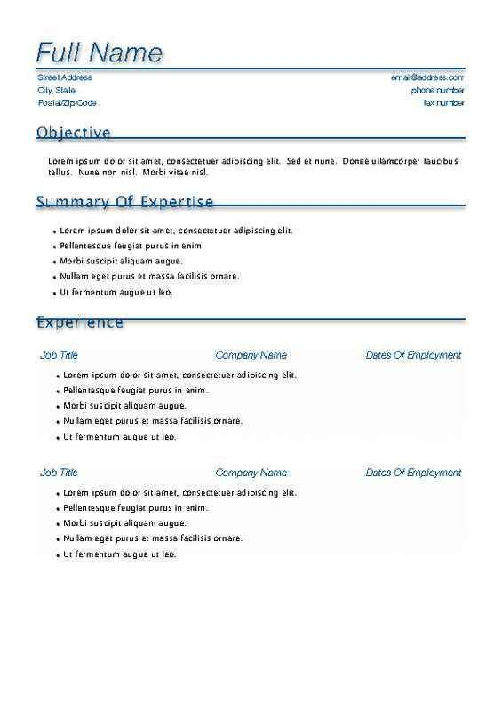 Resume Templates Word Mac. Creative Resume Templates Free Word ...