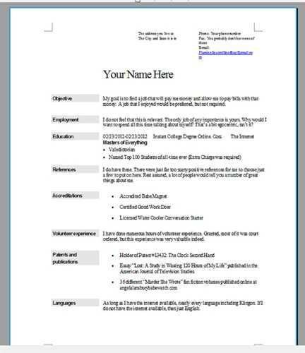 How To Do A Resume For A Job #14750