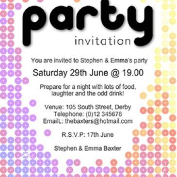 Corporate Party Invitation Template Archives - Word Templates