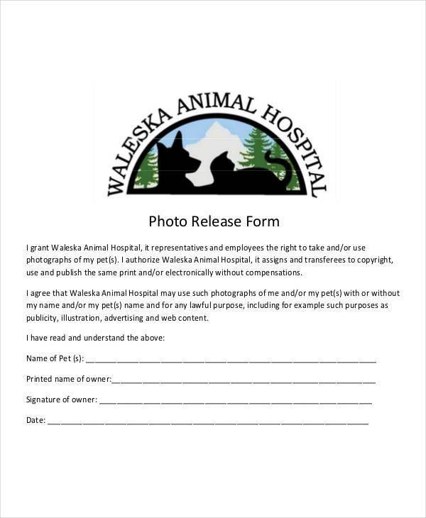 Photo Release Form Template - 9+ Free PDF Documents Download ...