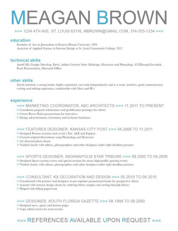 Microsoft Word Resume Cover Letter Template | Samples Of Resumes