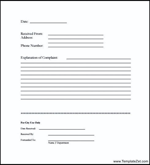 Customer Form Sample, sample consumer complaint form sample ...
