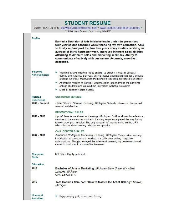 college resume example. examples of college student resumes high ...