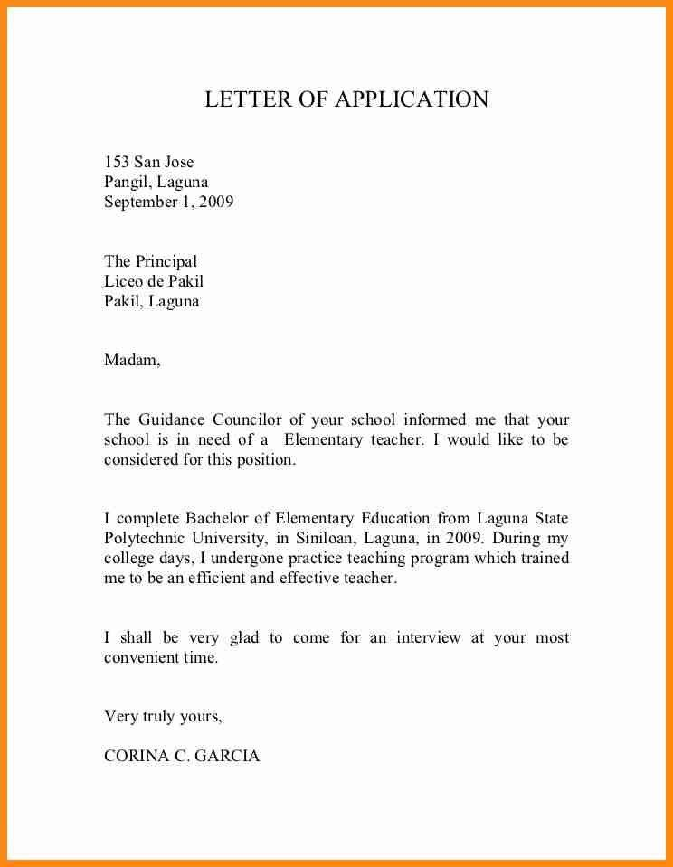 6+ simple application letter for job | musicre sumed
