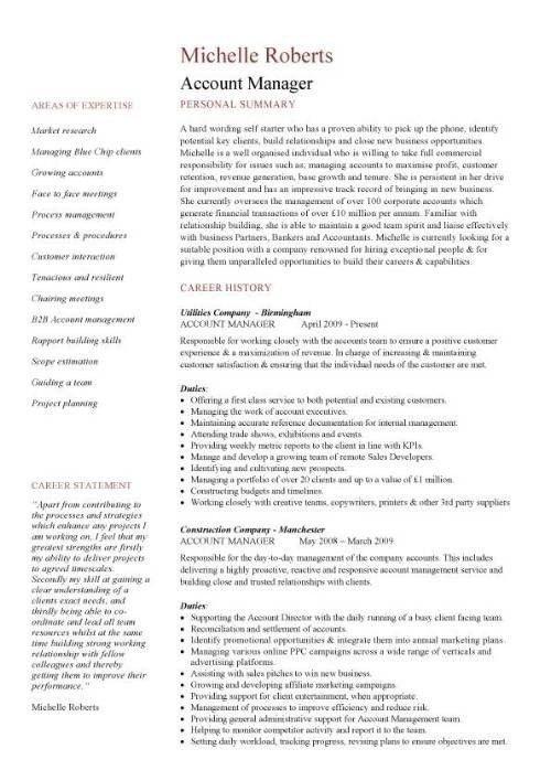 Sample Resume For Accounting Manager | The Best Letter Sample