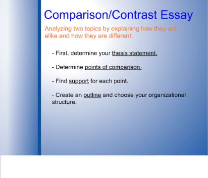 SMART Exchange - USA - Writing a Comparison Contrast Essay... in 4 ...