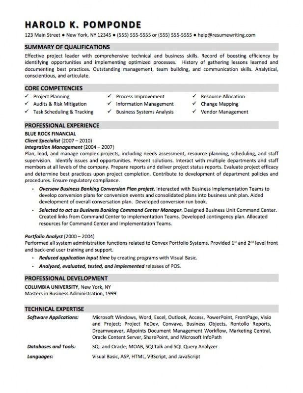 Business Resume Objective – Resume Examples