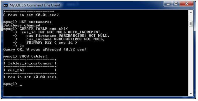 MySQL Create Table - javatpoint