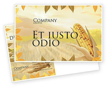 Free Corn Thanksgiving Postcard Template in Microsoft Word, Adobe ...