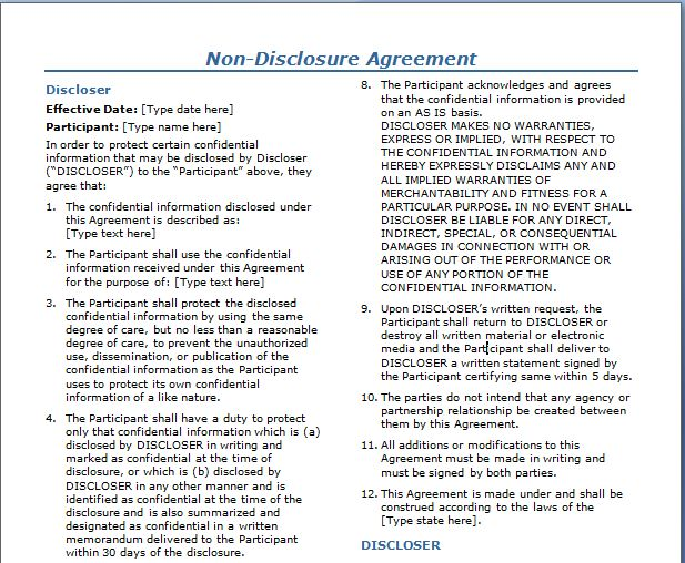 10 Best Images of Contractual Agreements Between Two Parties ...