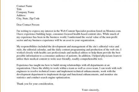 Sample Cover Letter Job Application Via Email - [imerbilgisayar.com]