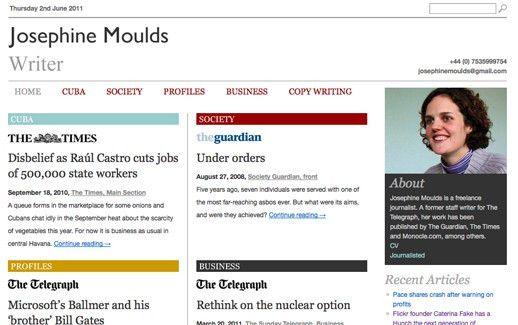 Five great journalist portfolio and CV websites | Editors Blog ...