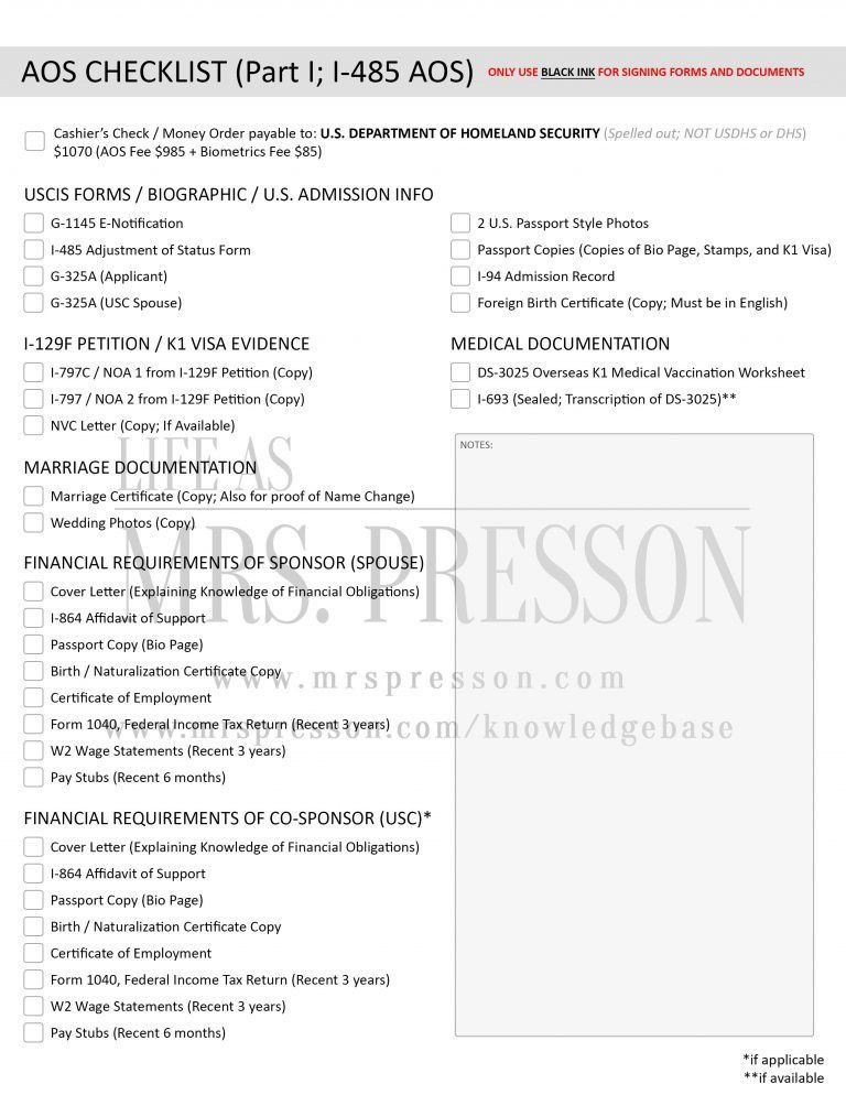 Awesome Design Ideas I 485 Cover Letter 5 How To Prepare Your AOS ...