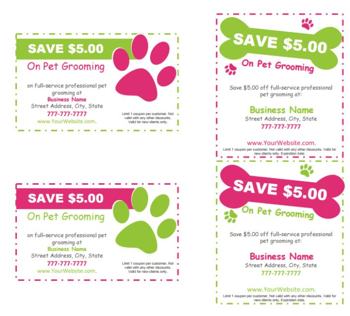 Editable & Printable Pet Grooming Templates