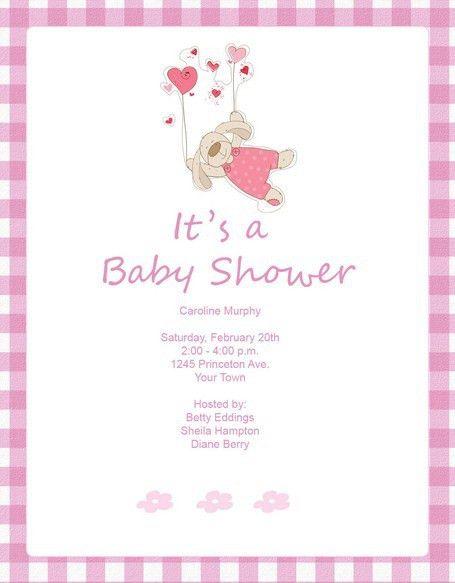 Free Downloadable Baby Shower Invitations   badbrya.com