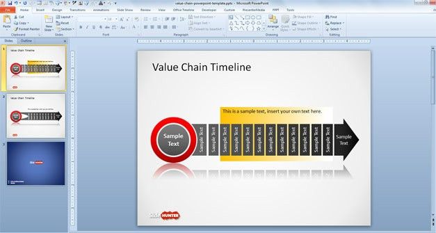 Free Value Chain Timeline Template for PowerPoint - Free ...