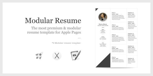 Modular resume template for Apple Pages 5 – Mac OSX – zigmoon.com