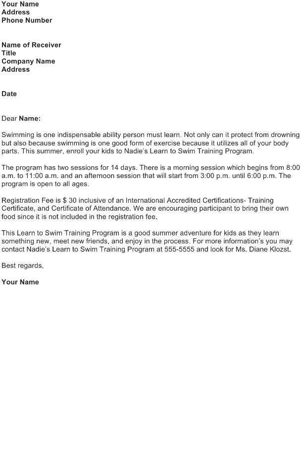 9 sales letter templates free sample example format download – Sale Letter