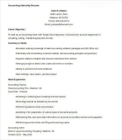 9+ Sample Accounting Resumes - Free Sample, Example, Format | Free ...