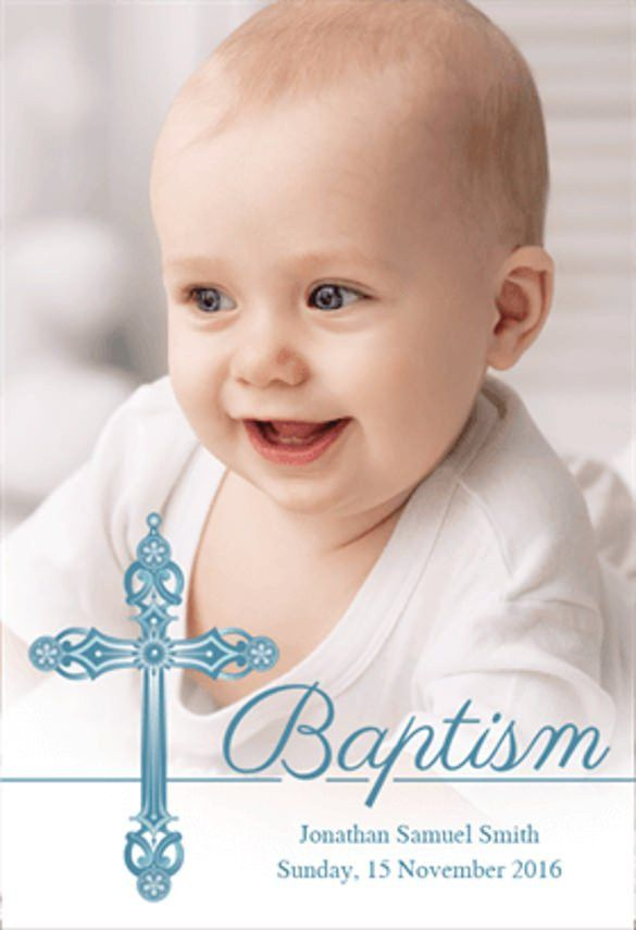 24+ Baptism Invitation Templates – Free Sample, Example, Format ...