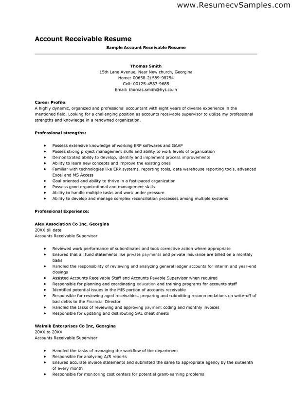 Accounts Receivable Resume | berathen.Com