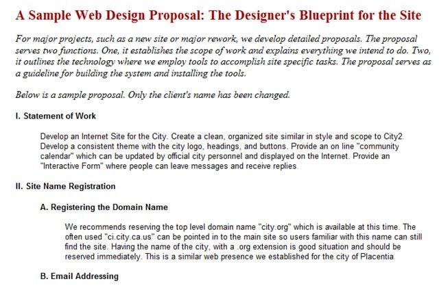 Website Proposal Example  BesikEightyCo