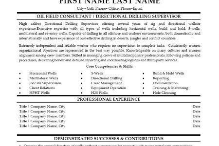 Oil Field Consultant Resume Sample. oilfield consultant resume ...
