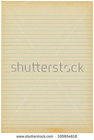 Blank Yellow Lined Paper Sheet Background Stock Illustration ...