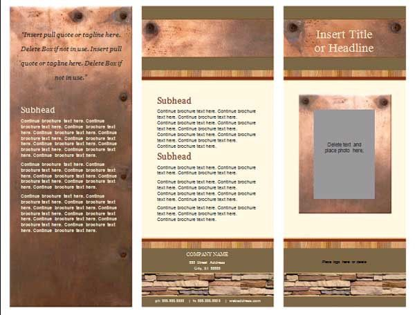 Free Pamphlet Template | Formal Word Templates