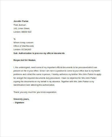 Creditcard Authorization Letter. Sample Authorization Letter - 8+ ...