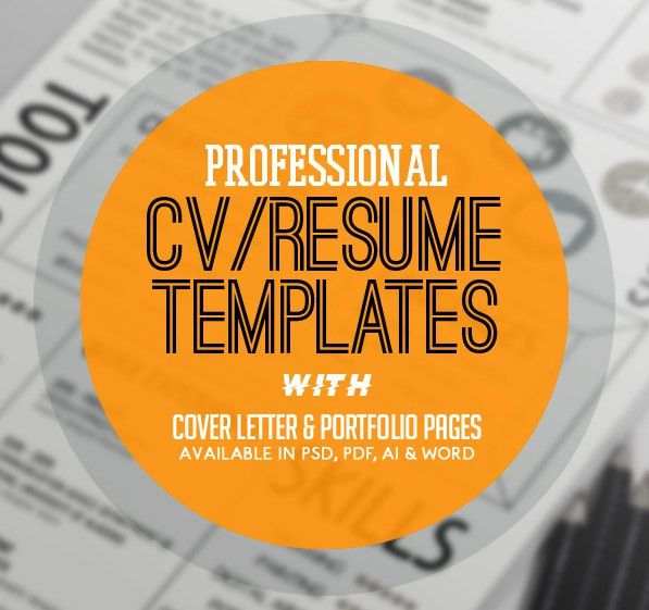 New Professional CV / Resume Templates with Cover Letter | Design ...