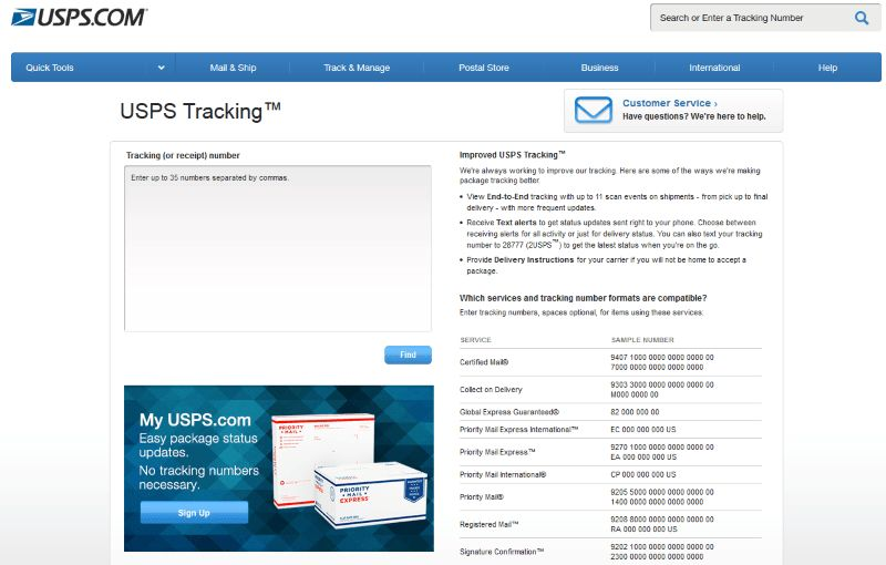 USPS Tracking, Track and Trace | track-parcel.co.uk