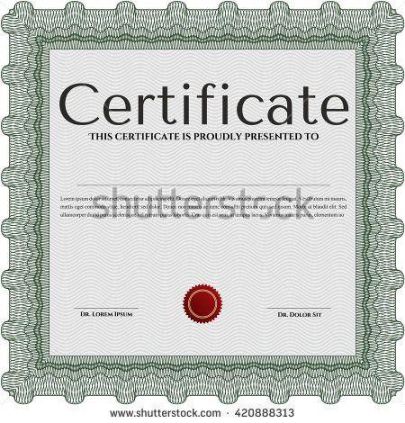 Vector Certificate Template Stock Vector 245599312 - Shutterstock