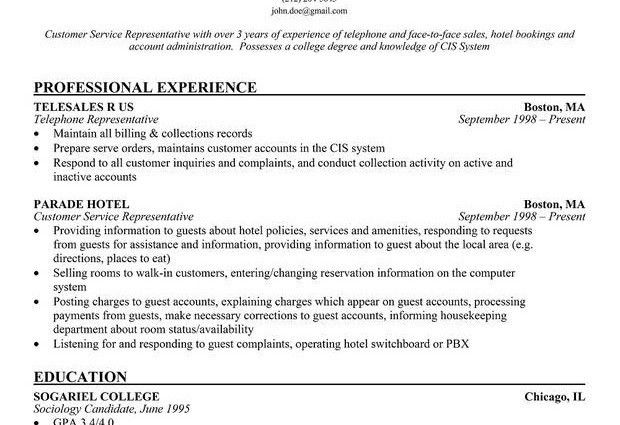 Good Resume Objectives Examples for Customer Service Objectives ...